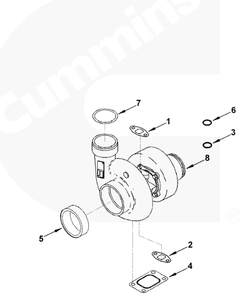 Турбокомпрессор Turbocharger pp4130_ двигателя KTTA19-C520